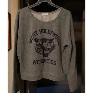 XXI - Forever 21 Cropped Sweatshirt Tiger Size M